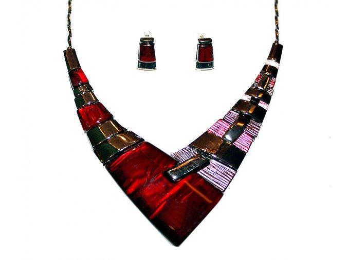 Moderní náhrdelník COOL červený 00