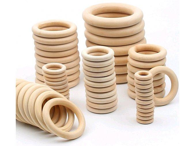Dřevěné kroužky na macramé a dekorace