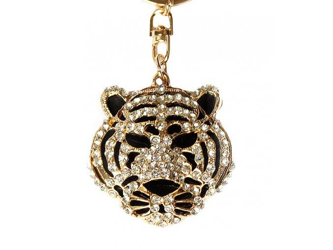 Přívěsek na kabelku a klíče tygr 01