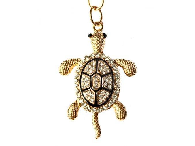 Přívěsek na kabelku a klíče želva 01