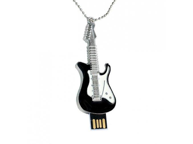 USB flash disk řetízek Kytara černá 01