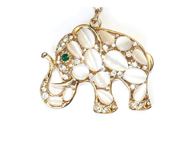 přívěšek na kabelku bílý slon 01