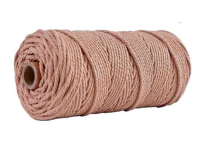 Bavlněná šňůra provaz motouz macramé 4mm