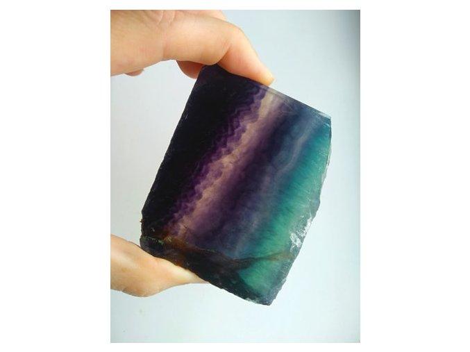 Fluorit destička 7,5 x 6 cm 203g 02