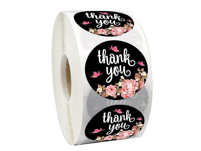 Samolepky na obálky a zboží Thank you 1