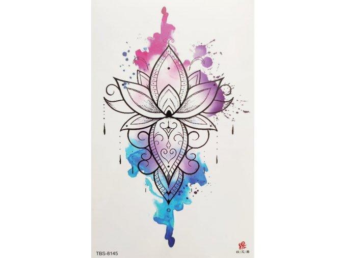Nalepovací tetování Lotosový květ