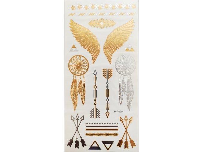 Nalepovací tetování Křídla a lapače snů