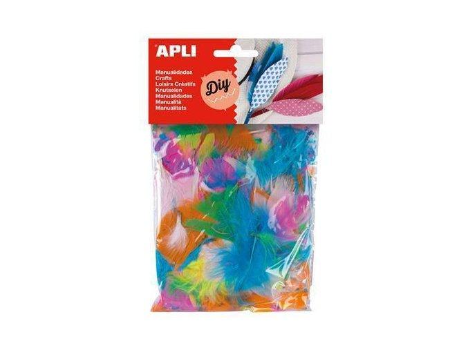 Mix prachového peří APLI barvené