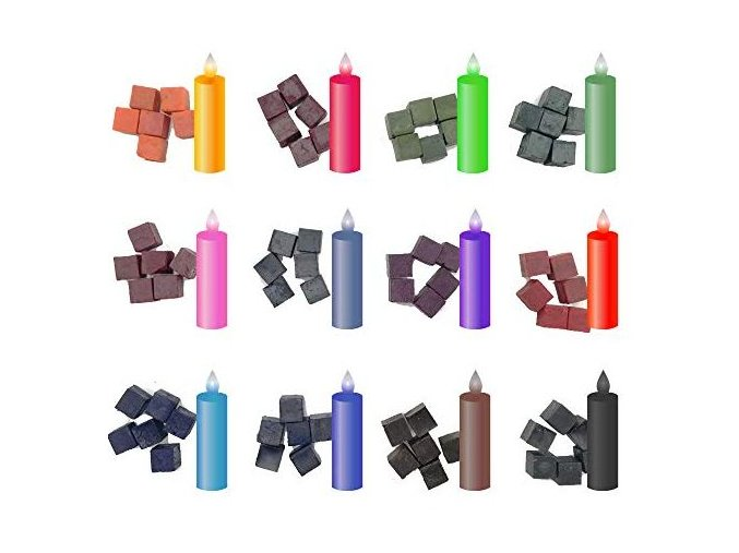 barvy na barvení svíček