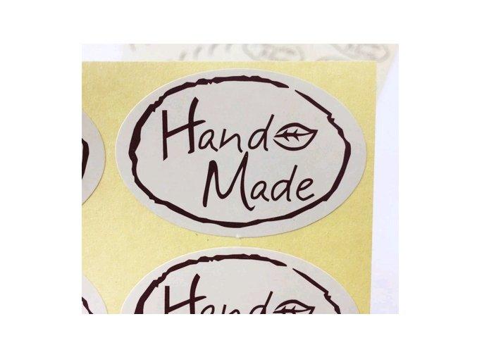 Samolepky Hand Made ovál 1