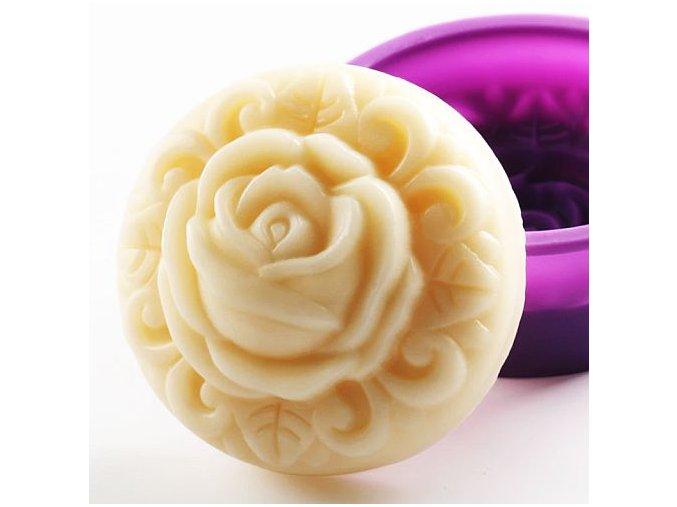 Kulatá silikonová forma Růže 01B