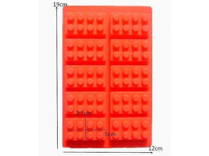 Silikonova forma 10 x Lego kostičky 01