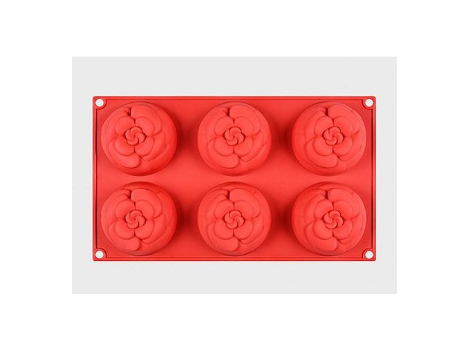 Silikonova forma 6 x růže 01
