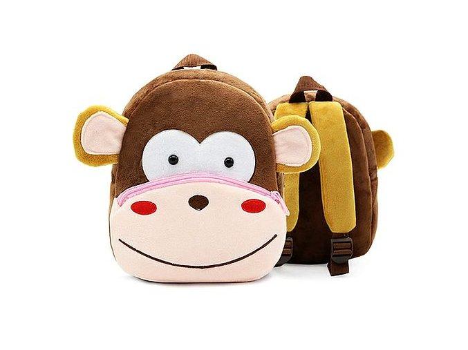 Plyšový batůžek pro děti Opice 01