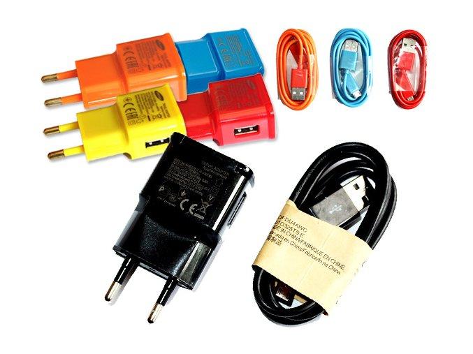 nabíječky na smartphone microUSB barevné