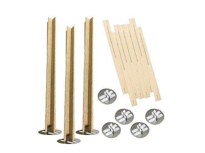 Dřevěné knoty na svíčky křížové 0