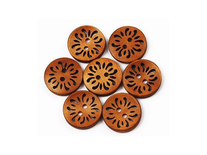 Dřevěné knoflíky děrované BAO 23 mm 01