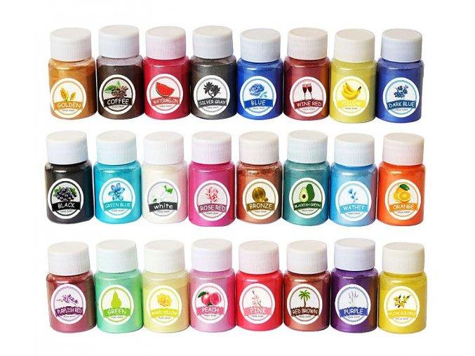 MICA přírodní práškové barvy 24 SET