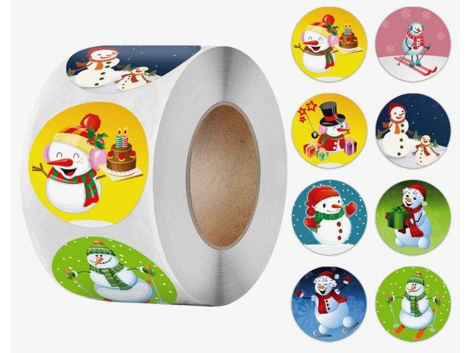 Samolepky Vánoční motivy Sněhuláci mix