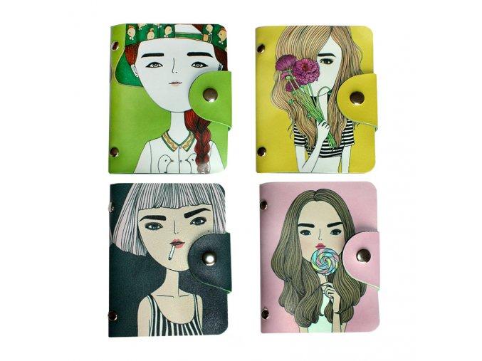 Pouzdro na věrnostní karty Dívka 01