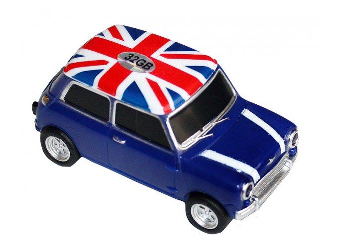 USB flash disk auto Mini Cooper modré 01