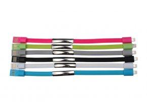 micro USB datové kabely iPhone silikonové náramky