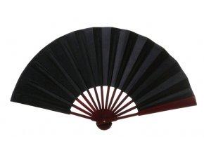 Skládací vějíř velký XL černý 1
