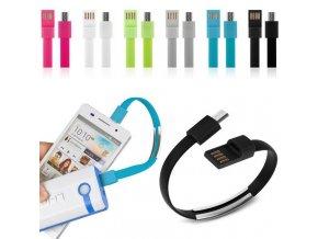 mico USB nabíjecí a data kabely náramky