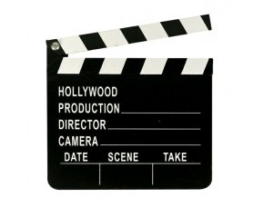Filmová klapka natáčení videa