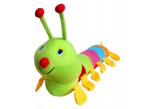 Plyšová hračka stonožka zelená 01