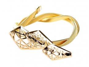 Pružinový pásek na šaty zlatý Diamant 03