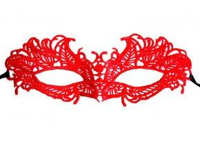 Krajková maska zpevněná Posea červená 01