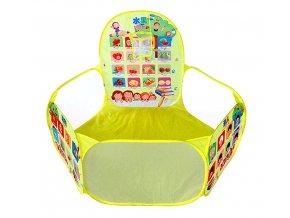 Textilní bazén na míčky English žlutý 02