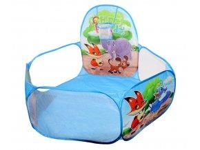 Dětský bazének na míčky Happy BirthDay modrý 01