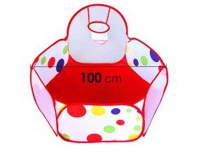 Látkový bazének pro děti INDOOR s košem 100 cm