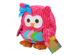 Dětský batoh pro holky růžová sova 01