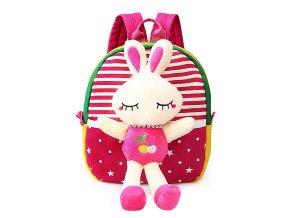 Dětský batůžek Bílý králíček růžový 01