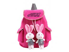 Dětský batůžek Králíčci růžový 01