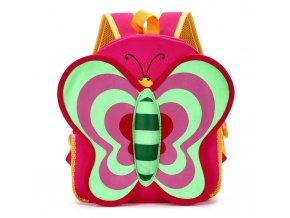 Batůžek pro děti červený Motýl 01