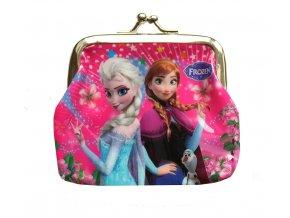 Peněženka Elsa a Anna růžová 01