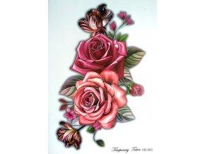 Nalepovací tetování velké růže HB 665