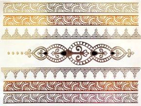 Metalické nalepovací tetování Orient