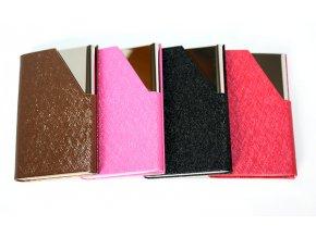 Pouzdro na vizitky kovové 4 barvy