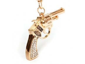 Přívěsek na klíče zlatý kolt