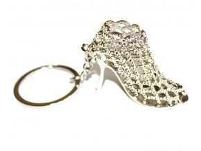Přívěsek na klíče a kabelku stříbrný střevíček 00