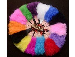 Péřové vějíře vel L mix barev