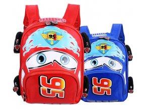 Dětské batohy AUTO modrý a červený