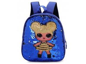 Dětský batoh s flitry Sequin modrý 2