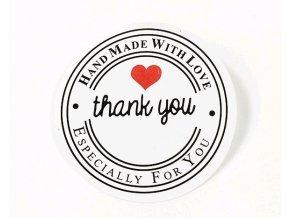 Samolepky Hand Made Style 01 Thank you