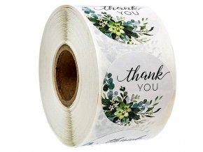 Samolepky na obálky a zboží Thank you 2